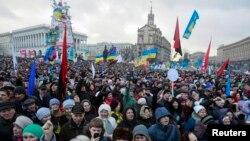 Pamje nga protesta e sotme në Kiev