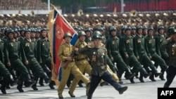 Военный парад в Пхеньяне. 27 июля 2013 года.