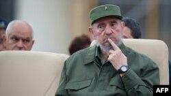 Фидель Кастро (на переднем плане), Гавана, 28 сентября 2010