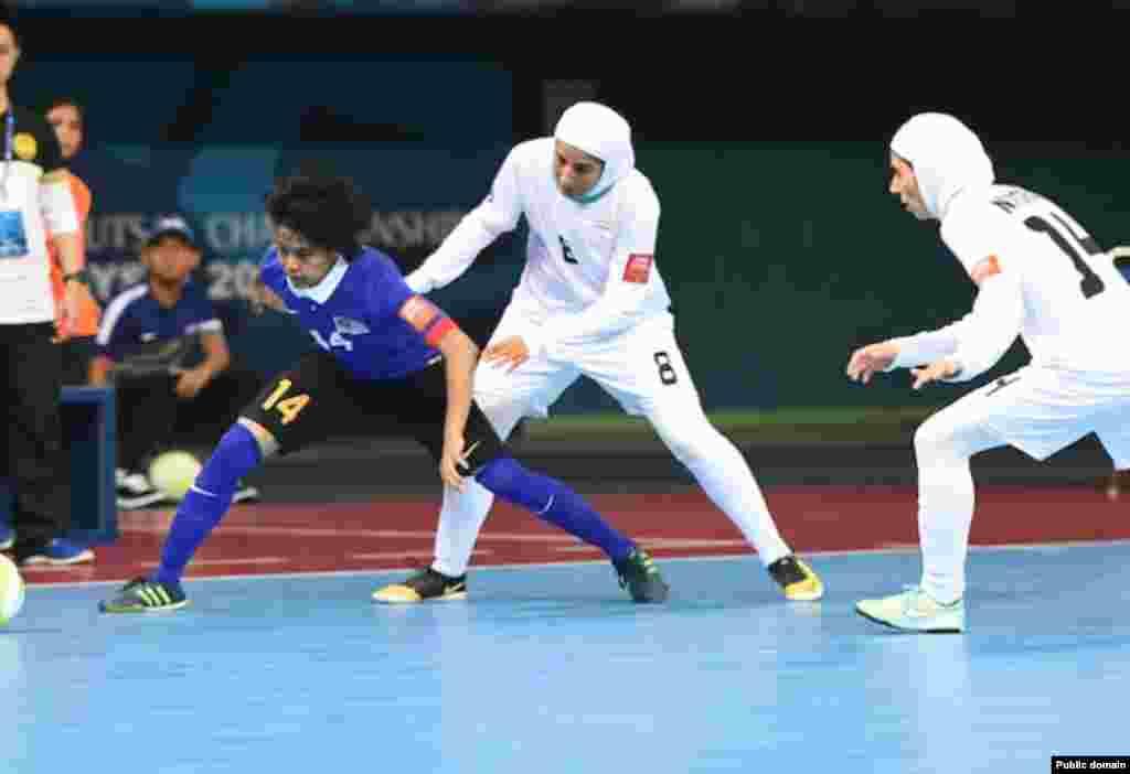 پیروزی ایران با نتیجه چهار بر دو در مقابل مالزی. عکس از: وبلاگ فوتسال زنان ایران