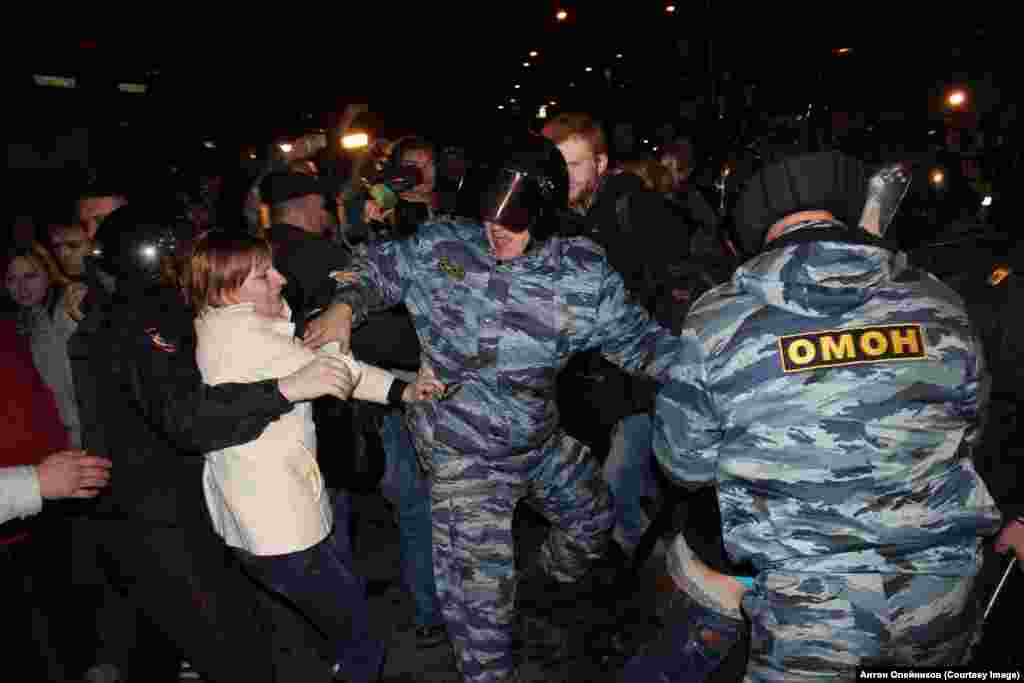 Задержания в Бирюлево