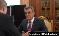 Сергей Меняйло на встрече с Владимиром Путиным в Кремле, июль 2016 года