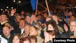 Предизборен митинг на опозициската СДСМ во Струмица.