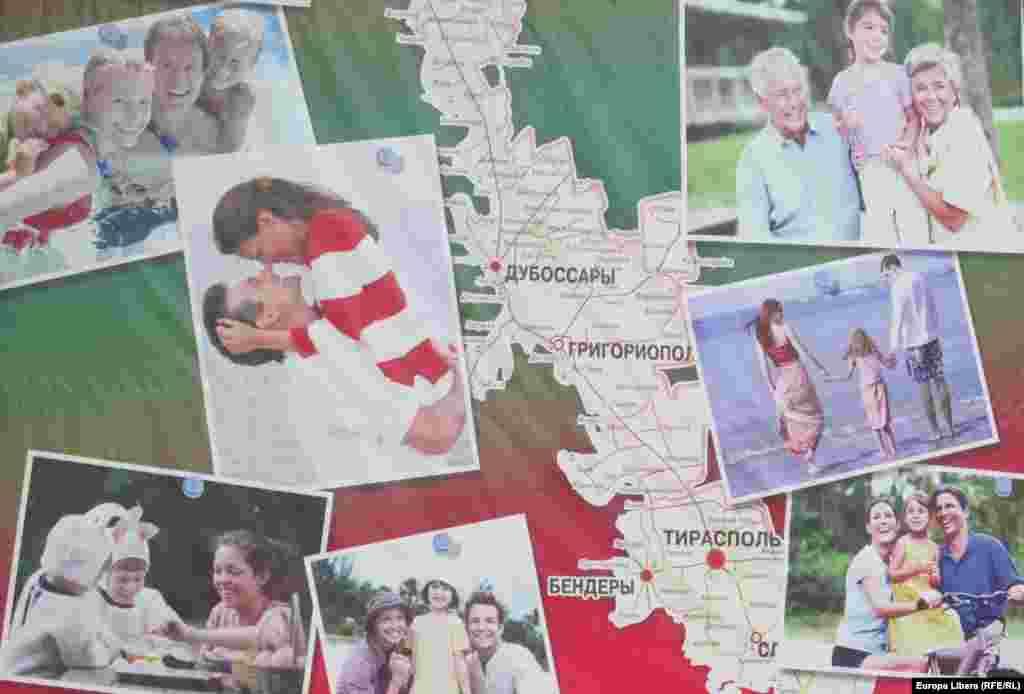 O oficială hartă a fericirii transnistrene...