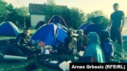 Šatori izbjeglica u Tovarniku, foto: Arnes Grbešić