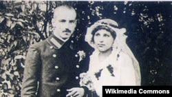 Канстанцыя Буйло змужам Віталём Адольфавічам Калечыцам удзень шлюбу 7чэрвеня 1916год