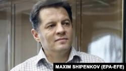 Украинский журналист Роман Сущенко на суде по его делу. Москва, 4 июня 2018 года.