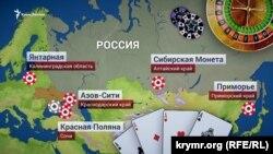 Игорные зоны в России и аннексированном Крыму