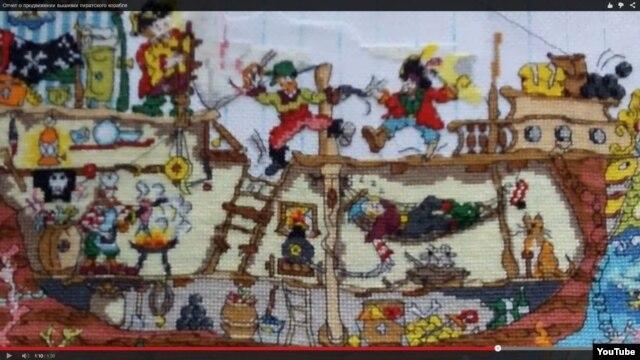 Одна из работ Юлии. Пиратский корабль