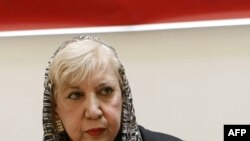 Iranian poet Simin Behbahani in August 2007