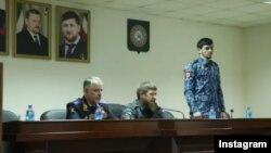 Глава Чечни представляет нового главу полиции Грозного Хас-Магомеда Кадырова