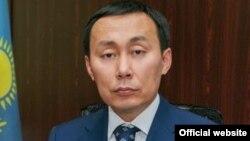Асылжан Мамытбеков в бытность министром сельского хозяйства Казахстана.