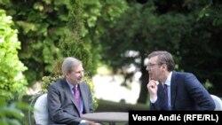O budućim zadacima: Johanes Han i Aleksandar Vučić