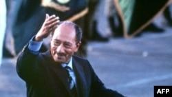 انور سادات رییس جمهوری مصر درسال ۱۹۸۱ کشته شد. (عکس: AFP)