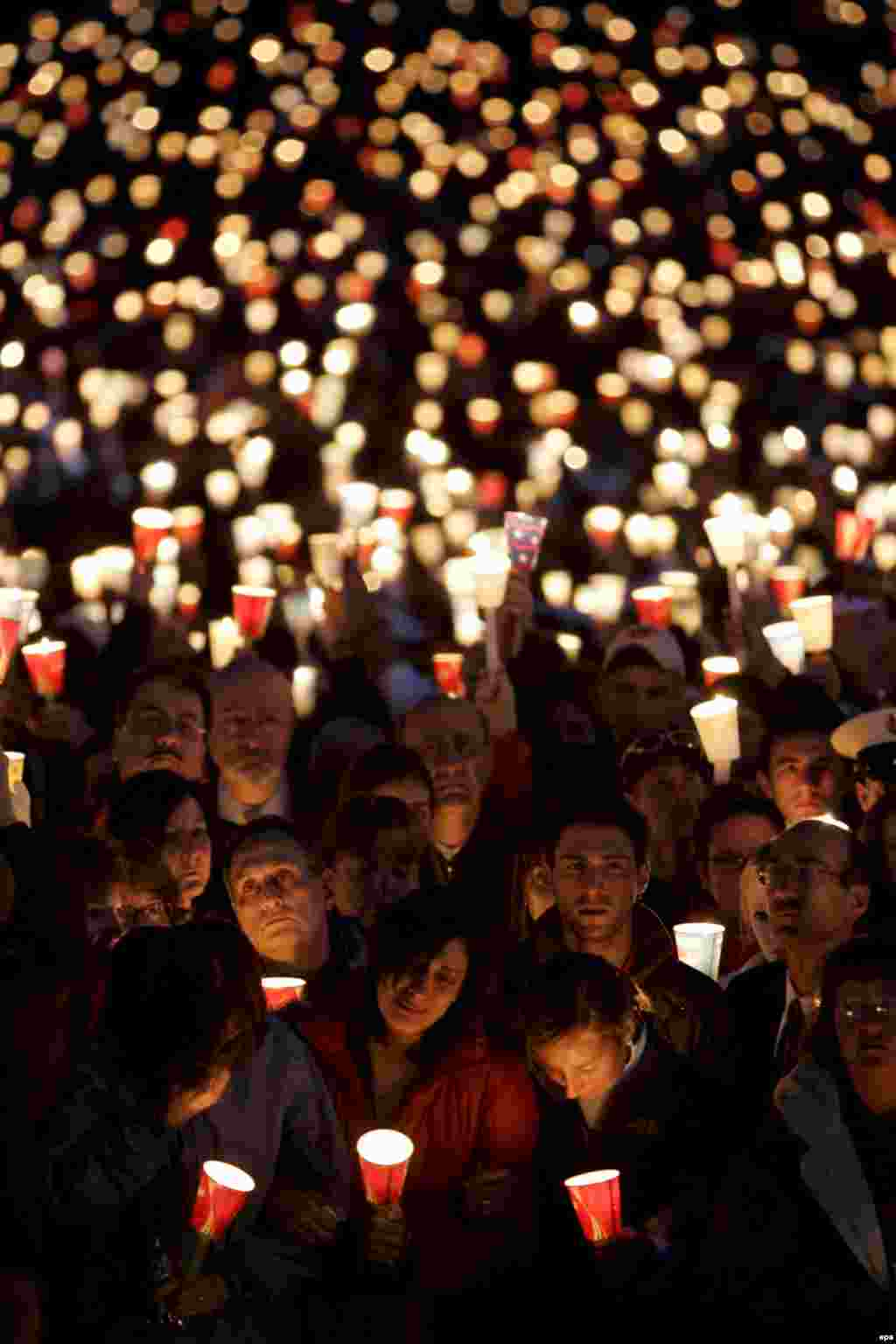 The second largest mass shooting on record was at Virginia Tech University on April 17, 2007. The attacker, a 23-year-old student at the university, Seung-Hui Cho, killed 32 students and left 25 injured in two separate attacks: one in classrooms, the other in a dormitory. He then committed suicide at the scene. Virginia Tech students are seen here during a candlelight vigil for the victims.
