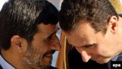 Иран президенті Махмуд Ахмадинежад (сол жақта) және Сирия президенті Башар Асад. Стамбул, 9 қараша 2009 жыл.