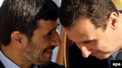 الرئيسان السوري بشار الاسد والايراني احمدي نجاد
