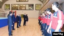 İlham Əliyev Azərbaycan Boks Federasiyasının inzibati binasının açılışında