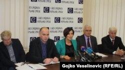 Press konferencija čelnika sindikata