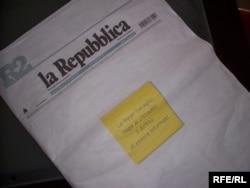 La Repubblica протестует против ужесточения закона о СМИ