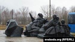 Фрагмэнт будучага комплексу помнікаў воінам Першай усясьветнай вайны
