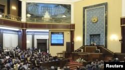 Төртінші шақырылымдағы Қазақстан парламентінің V сессиясының ашылуы. Астана, 1 қыркүйек 2011 жыл.