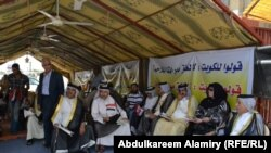 تجمع احتجاجي فيى البصرة على مشروع الميناء الكويتي