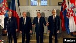 Претседателите на Чешка, Словачка, Србија и Хрватска