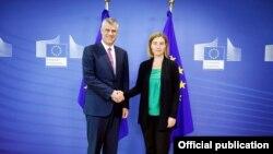Presidenti i Kosovës, Hashim Thaçi dhe përfaqësuesja e Lartë e BE-së për Punë të Jashtme dhe Politika të Sigurisë, Federica Mogherini, 21 qershor 2016