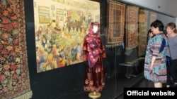 "Azerbaijani carpets are collected in Belgrade, Serbia ""Irreplaceable values"" exhibition. june2017"