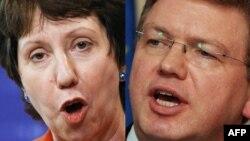 Catherine Ashton (majtas) dhe Stefan Fyle