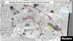 Сателитска слика на границата помеѓу Русија и Украина