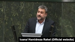 Iranian lawmaker Heshmatollah Falahatpisheh speaking at a session of Parliament on March 14, 2017.