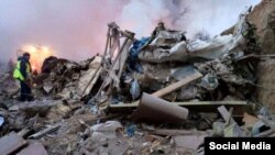 تصاویر اولیه از محل سقوط هواپیما