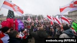 Protesta e sotme në Minsk të Bjellorusisë.