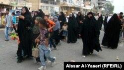 احد شوارع النجف يوم عيد الغدير 3تشرين الثاني
