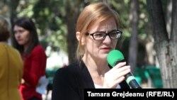 Tamara Cărăuş, de Ziua Limbii Române, în centrul Chişinăului