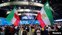 German authorities say the diplomat was involved in a plot to attack a rally near Paris on June 30 attended by some 25,000 Iranians opposed to the government in Tehran. (file photo)
