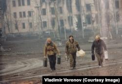 Штурм Грозного, фото Владимира Воронова