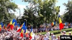 Moldova, Chișinău, protest împotriva schimbării sistemului electoral, 11 iunie 2017