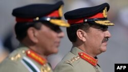 Pakistani army chief General Raheel Sharif (right) pictured in 2013.