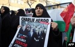 Митинг противников Шарли Эбдо в Иране