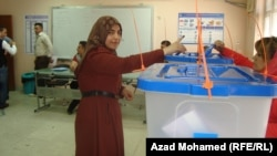 Իրաք - Խորհրդարանական ընտրությունների քվեարկությունը Սուլեյմանիայի ընտրատեղամասերից մեկում, 30-ը ապրիլի, 2014թ․