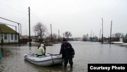 The floods were caused by melting snow and heavy rain