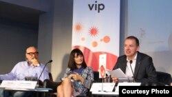 """Прес конференција во пресрет на Интернационалниот фестивал на филмска камера """"Браќа Манаки""""."""