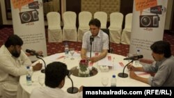 Pakistan--Tribal candidates in a debate arranged by Radio Mashaal in Islamabad on April 27, 2013.