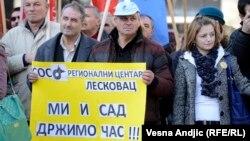 Sa jednog od ranijih protesta prosvetara u Beogradu