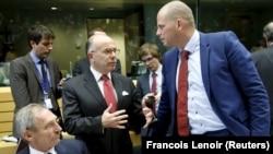 Sa sastanka u Briselu: mađarski ministar unutrašnjih poslova Sandor Pinter, francuski ministar unutrašnjih poslova Bernard Cazeneuve i belgijski državni sekretar za azil i migracije Theo Francken