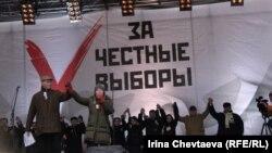 """Митинг """"За честные выборы"""", 24 декабря 2011 года на проспекте Сахарова в Москве"""