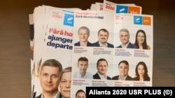 Pliantele de campanie ale Alianței 2020 USR PLUS